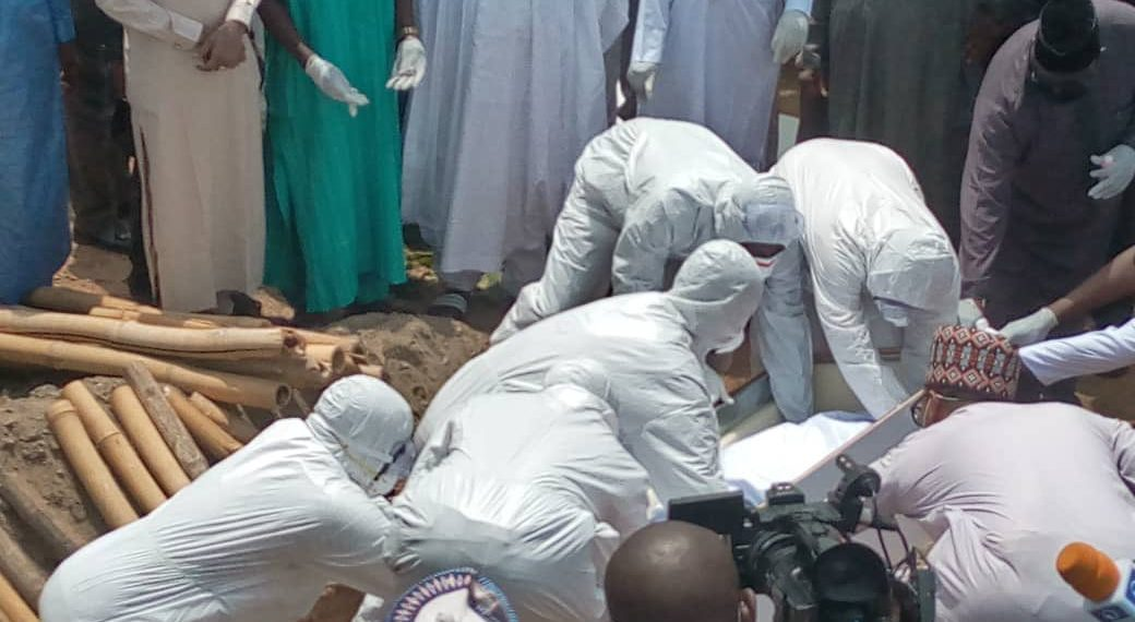 Late Abba Kyari laid to rest; Social Distancing rules totally Disregarded