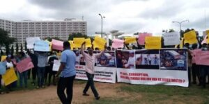 Protest in Abuja for the arrest of Tinubu & Interrogation of Buhari